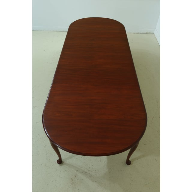 Brown Henkel Harris Oval Cherry Model 2206 Dining Room Table For Sale - Image 8 of 12