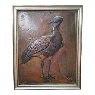 Hooded Screamer Copper Repousse Art by H. Alvin Sharpe (New Orleans) For Sale
