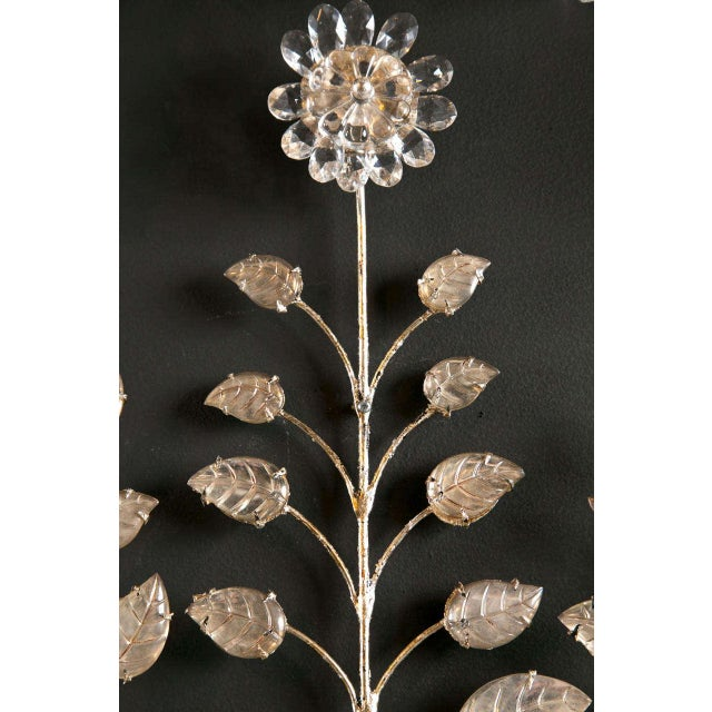 1930s French Silver Leaf Sconces - a Pair For Sale - Image 4 of 9