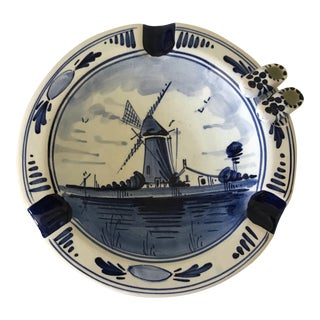 Hand-Painted Delfts Holland Ashtray