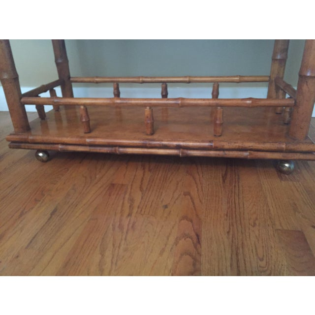 American of Martinsville Faux Bamboo Bar Server - Image 6 of 9