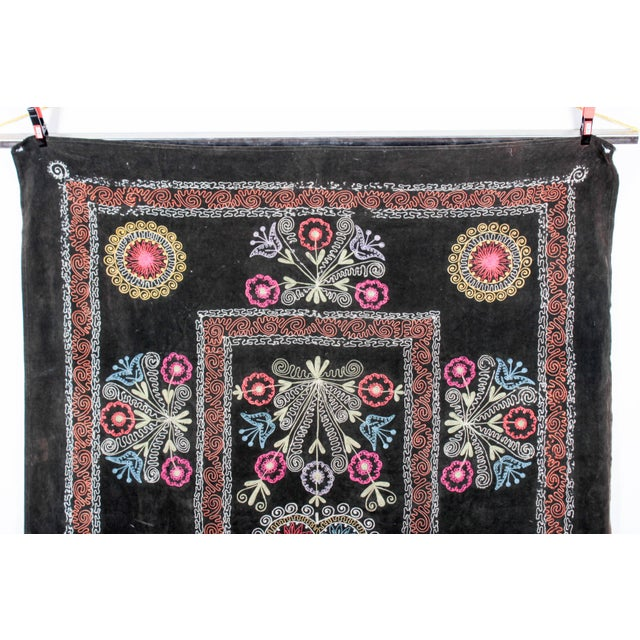 Embroidered Vintage Velvet Suzani - Image 2 of 7