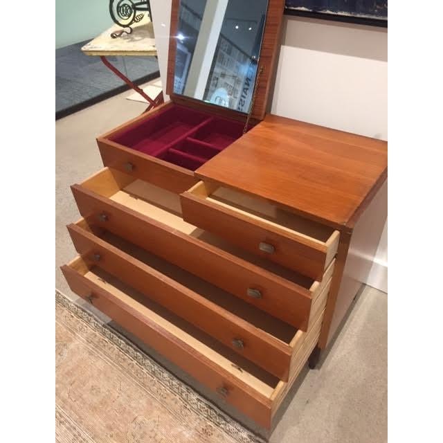 1960s Italian Mid-Century Chest of Drawers With Vanity Mirror For Sale - Image 5 of 13