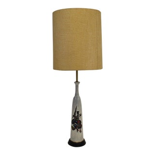 1970s Mid Century Modern Fantoni Marbro Ceramic Lamp For Sale