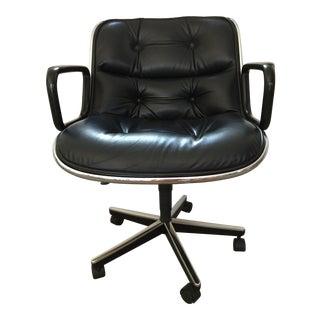 1990s Mid-Century Modern Knoll Charles Pollock Executive Chair For Sale
