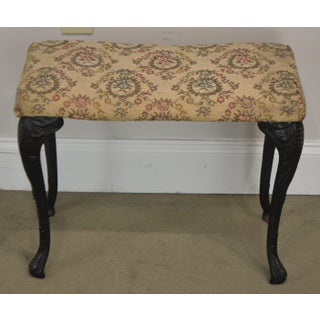 Antique Rococo Style Iron Leg Vanity Bench Preview