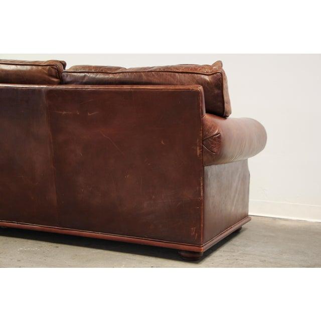 Vintage Ralph Lauren Leather Floating Sofa For Sale - Image 10 of 13