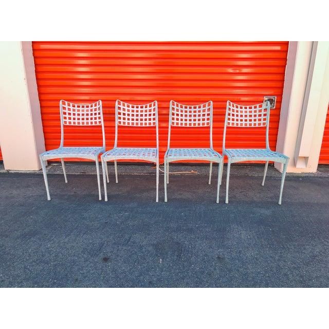 Dan Johnson Brown Jordan Sol Y Luna Patio Chairs - Set of 4 For Sale - Image 9 of 12