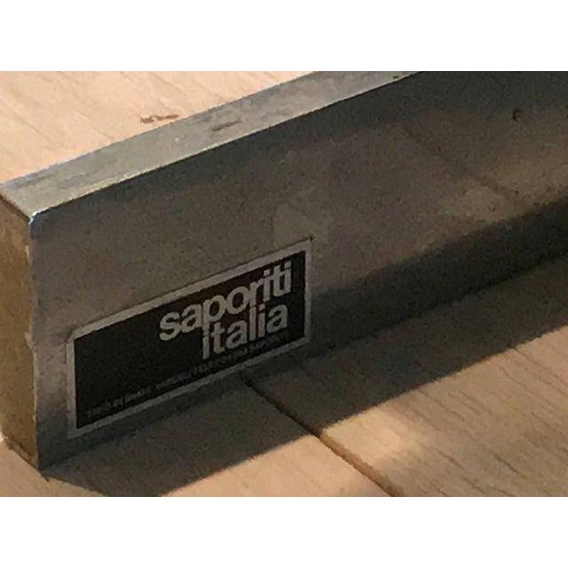 Saporiti Pair of Italian Chrome Lounge Chairs Restored Saporiti For Sale - Image 4 of 5