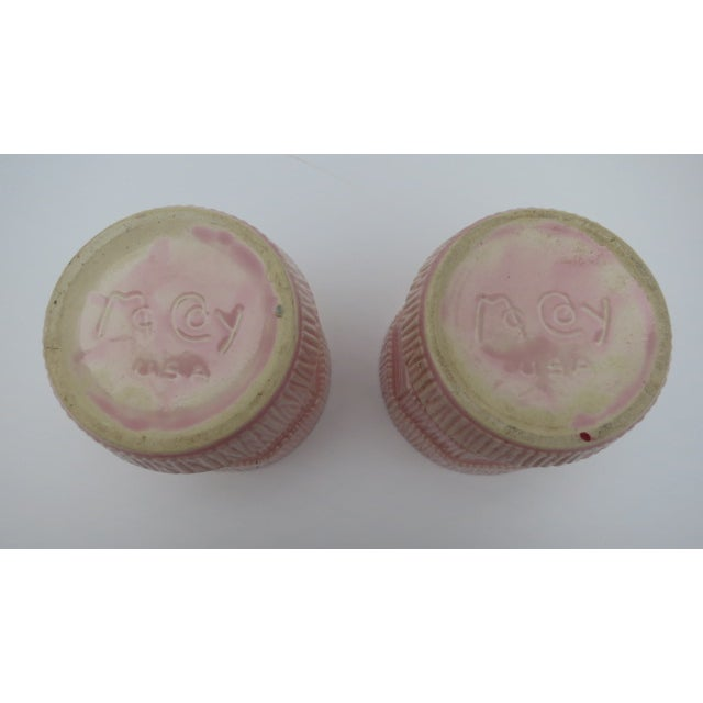 McCoy Pink Pottery Planters - A Pair - Image 3 of 3