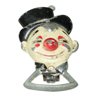 Distressed Clown Bottle Opener, Circa 1940s