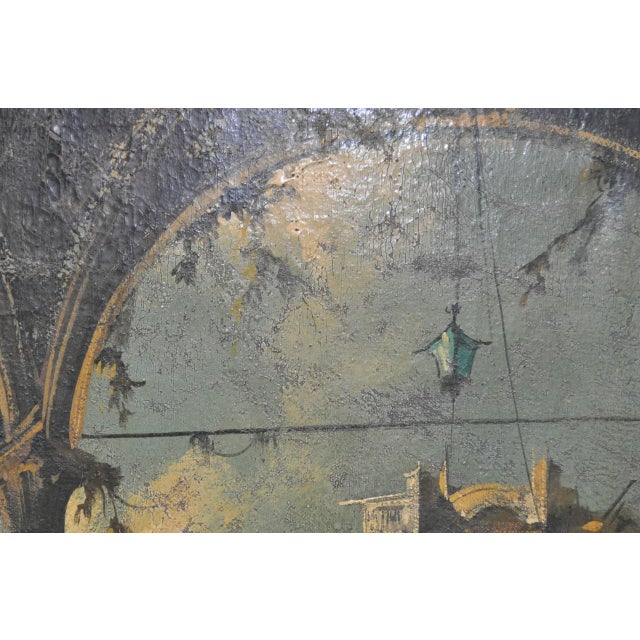Canvas 19th Century Italian School Oil Painting For Sale - Image 7 of 10