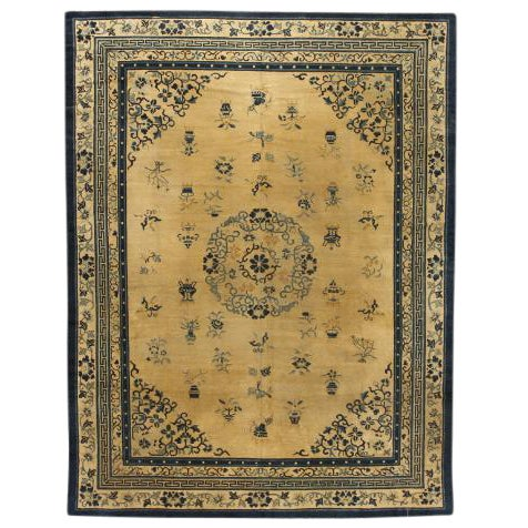 Antique 19th Century Chinese Carpet For Sale