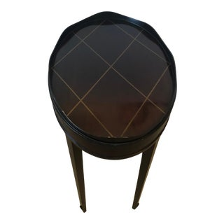 Java Finish Oval Side End Table by Barbara Barry for Baker For Sale