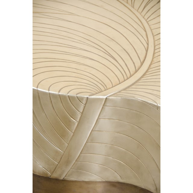 2010s Leaf Design Cocktail Table - Brass For Sale - Image 5 of 7