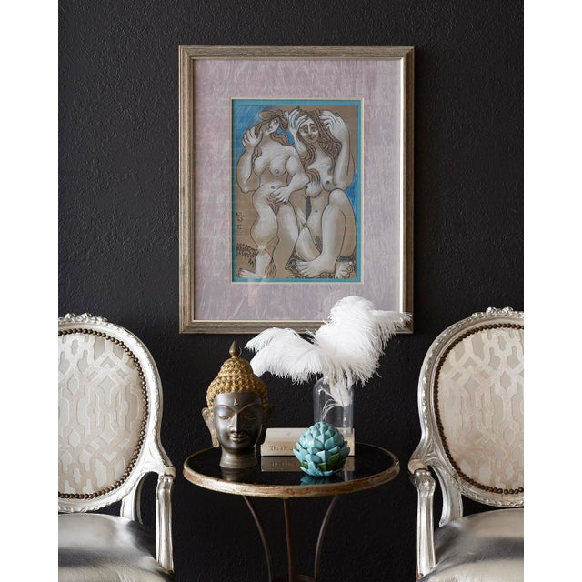 Black Marble French Belle Époque Iron and Marble Bistro Cafe Table For Sale - Image 7 of 13
