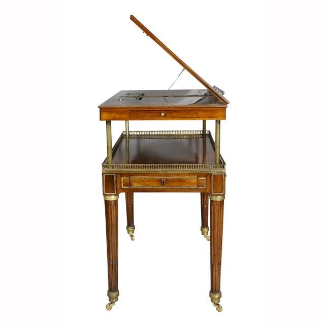 Louis XVI Walnut Architects Table a La Tronchin For Sale - Image 12 of 13