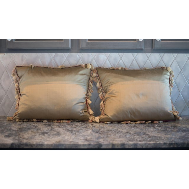 Vintage French Petti-Pointe Pillows - A Pair - Image 3 of 5