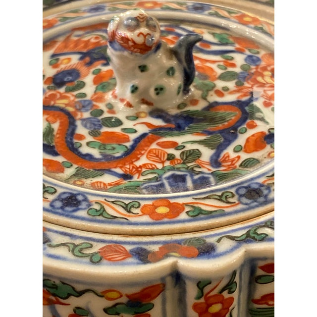 Wanli Wucai Chinese Export Lidded Box For Sale In Dallas - Image 6 of 12