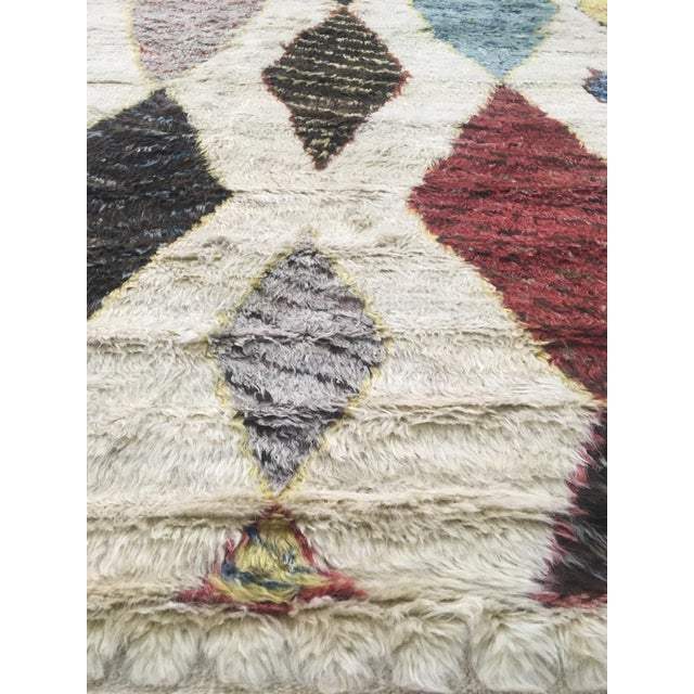 Islamic Hand Knotted Moroccan Rug- 10′9″ × 13′11″ For Sale - Image 3 of 6