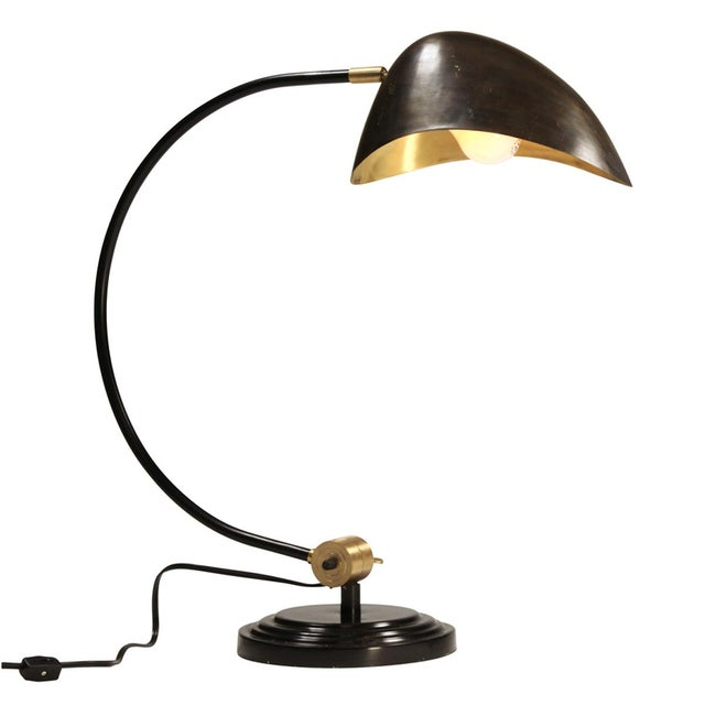 Industrial Brass Table Lamp - Image 2 of 2