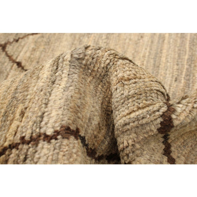 Moroccan Style Hand-Knotted Rug For Sale - Image 6 of 9