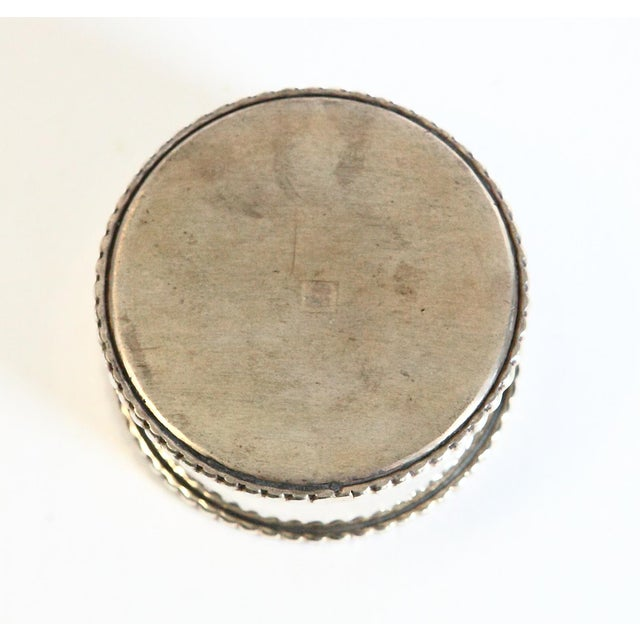 Late 20th Century Silver-Plated Wine Coaster For Sale - Image 4 of 5