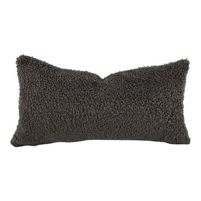"""Cowtan and Tout Shearling in Mink Brown Pillow Cover - 10.5"""" X 20"""" For Sale"""