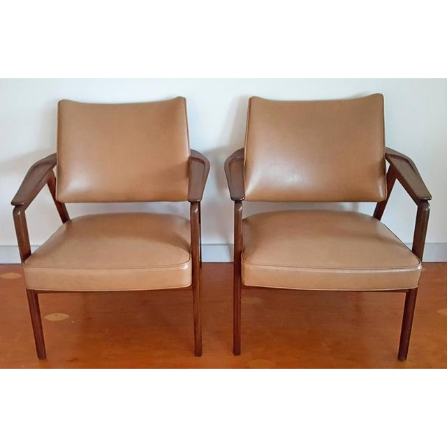 1950s 1950s Mid Century Sigvard Bernadotte Inspired Lounge Chairs - a Pair For Sale - Image 5 of 7