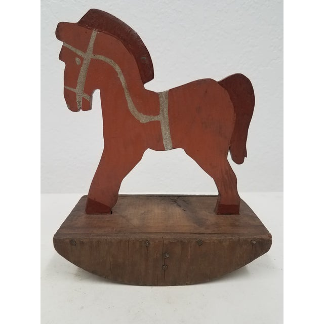Antique English Wooden Toy Rocking Horse - Handmade For Sale - Image 9 of 9