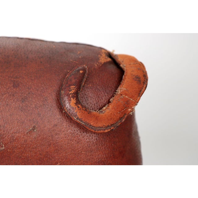 1960s Vintage Stitched Leather Pig Footstool by Dimitri Omersa for Abercrombie & Fitch - Image 10 of 11