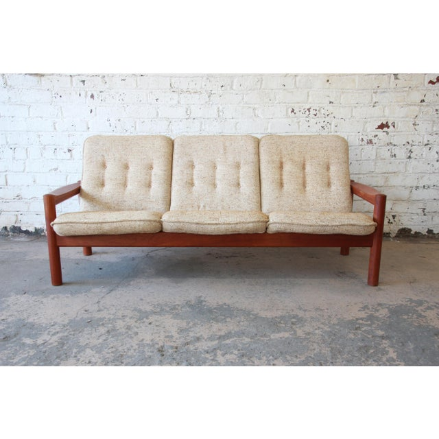 Danish Modern Teak Sofa By Domino Mobler