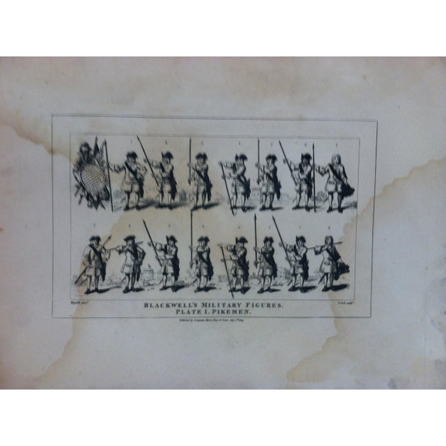 "This is an Antique and Rare Original Engraving that is titled ""Blackwell's Military Figures - Pikemen"" by John Hogarth...."