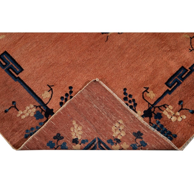 Early 20th Century Antique Art Deco Chinese Wool Rug 9 X 15 For Sale - Image 4 of 13