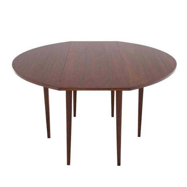 Drop Leaf Walnut Dining Table For Sale - Image 4 of 5