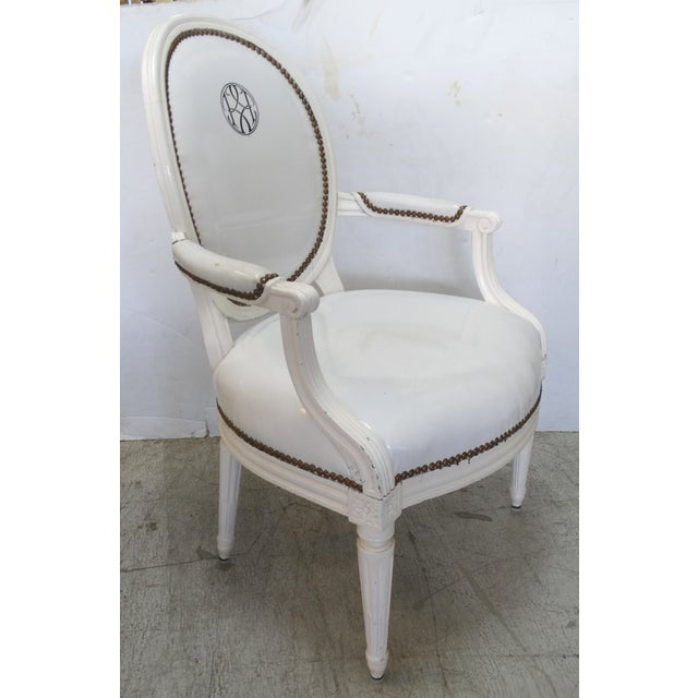 Neoclassical Antique Louis XVI Style Chairs - A Pair For Sale - Image 3 of 11