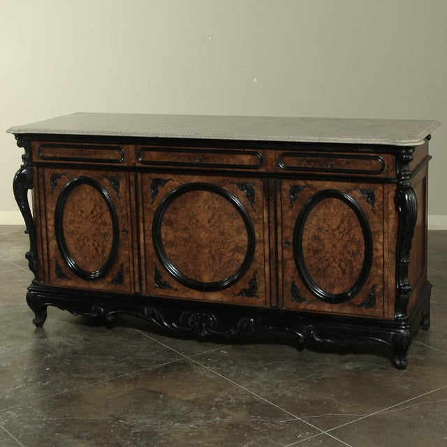 19th Century Biedermeier Marble Top Buffet For Sale - Image 13 of 13