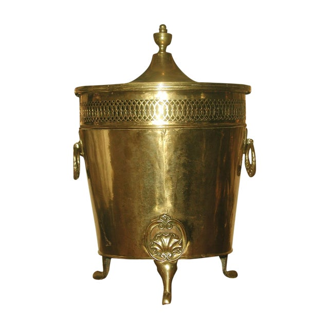 English Early 1900's Brass Coal Hod - Image 1 of 10
