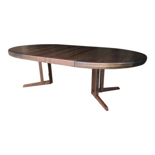 1960's Danish Modern George Nakashima Widdingcomb Sundra Oval Dining Table For Sale