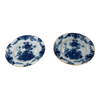 18th Century Delft Plates - a Pair For Sale