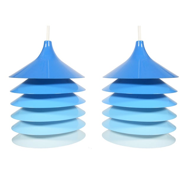 Bent Gantzel-Boysen Blue Ombre Pendants - A Pair - Image 1 of 4