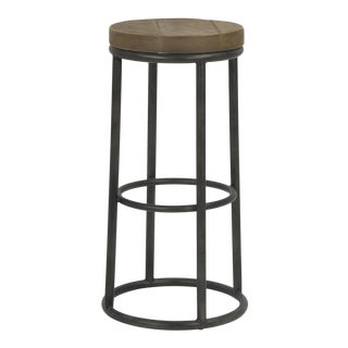 Sarried Ltd New York Round Metal Bar Stool For Sale