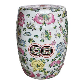 Chinoiserie Famille Rose Porcelain Garden Stool For Sale
