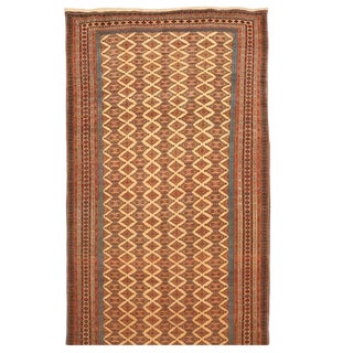 Exceptional Extremely Finely Woven Antique Tekke Mauri Carpet For Sale