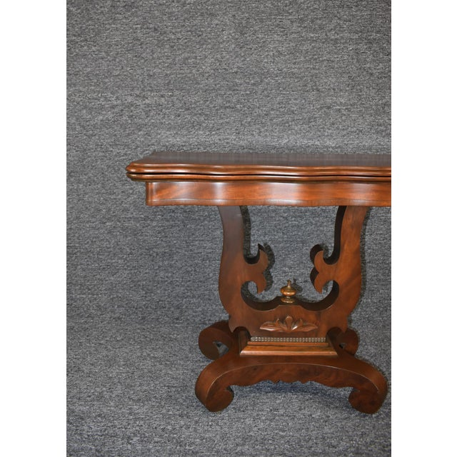 19th Century American Empire Game Table Console Table For Sale - Image 12 of 12
