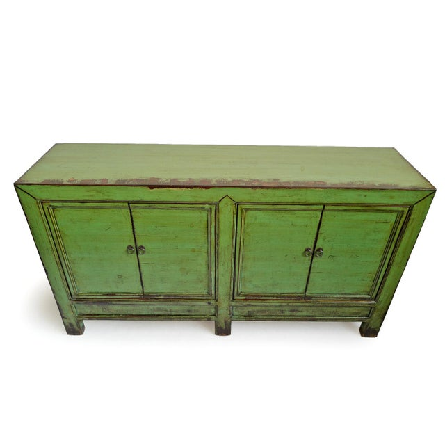 Asian Fern Green Sideboard For Sale - Image 3 of 8