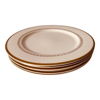 Vintage Taylor Smith & Taylor Golden Oak Pattern Dinner Plates S/5 For Sale