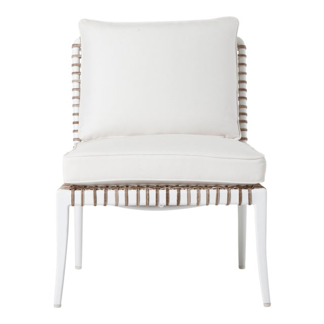Delta Beta Armless Chair in White For Sale