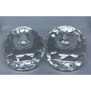 1950s Vintage Post House Japanese Lead Crystal Candle Holders - A Pair Preview