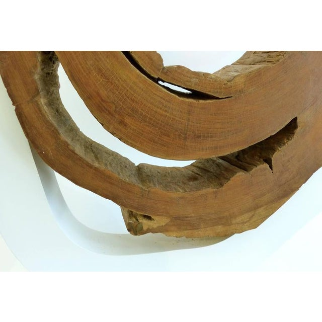 Ipe Reclaimed Wood Mounted Sculpture by Valeria Totti For Sale - Image 10 of 11